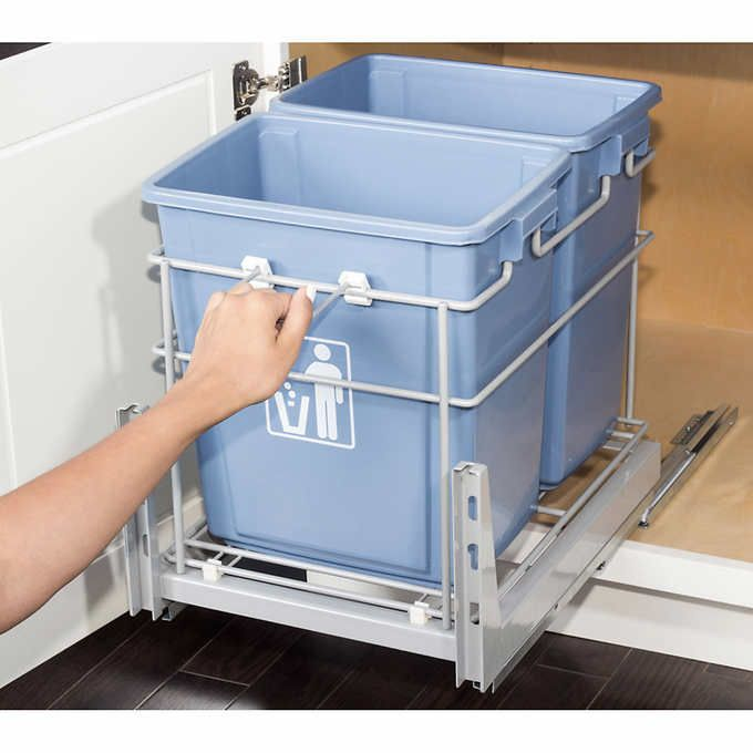COSTCO: Pullout Garbage and Recycling Bin Item #1031401 $128.99