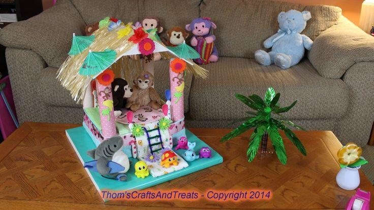 Diaper Cake Beach Hut
