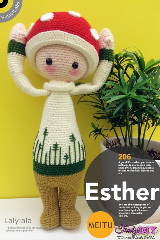 Mushroom-Free Craft Patterns cute kawaii toadstool fairy doll crochet amigurumi pattern grimm and fairy gift make