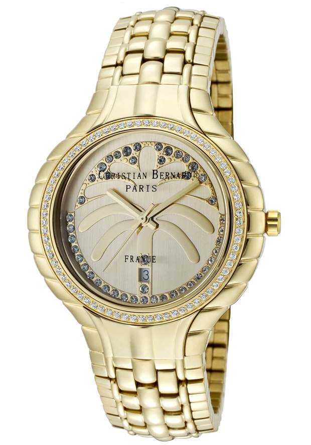Price:$217.59 #watches Christian Bernard MT368ZFF1, Resplendent, sensuous and detailed, with a slightly curved glass and ribbon esges along the casee, expresses its very distinguished character