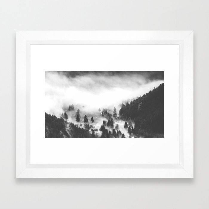 Ghostly Framed Art Print by Mixed Imagery | Society6