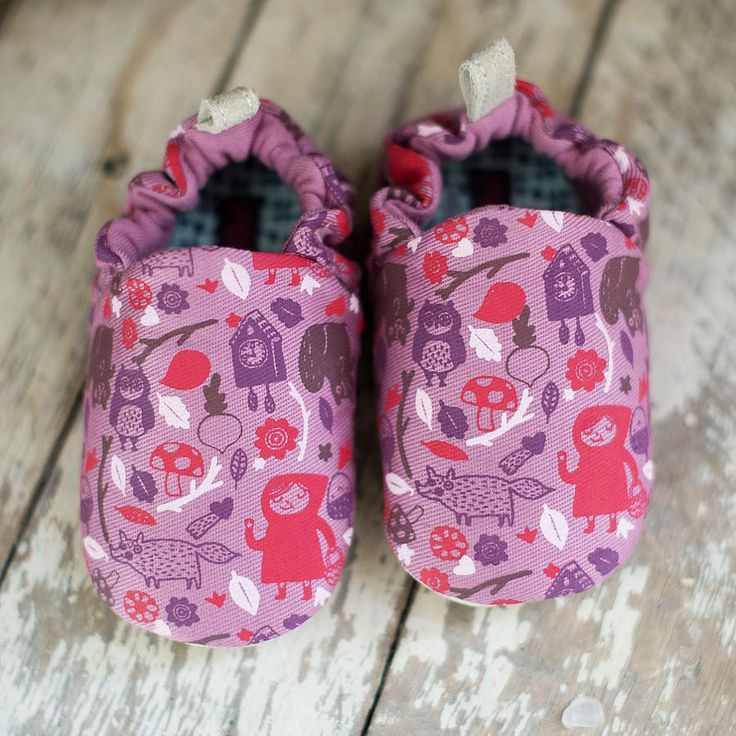 Babies Woodland Cotton And Leather Shoes
