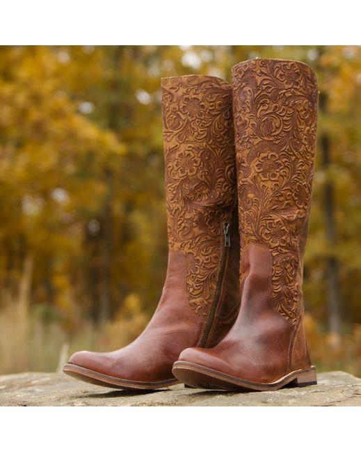 Lucchese Women's Virginia Boot - Beautiful detail!