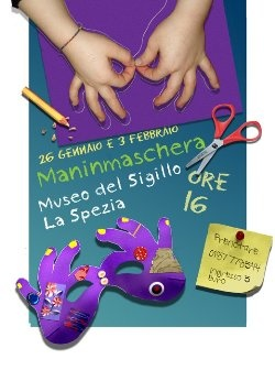 Manimaschera, laboratorio per bambini al museo del Sigillo http://www.cittadellaspezia.com/La-Spezia/Cultura-e-Spettacolo/Manimaschera-laboratorio-per-bambini-al-124300.aspx