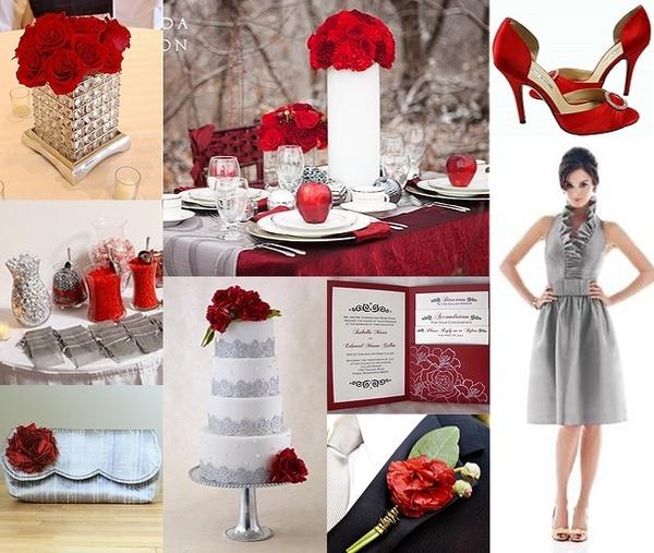 Red Wedding Ideas On A Budget: Cranberry & Charcoal Grey Wedding