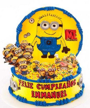 Torta infantil minion
