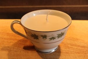 New blog post: Make your own tea cup candles - by Healthy Happy Stylish Home