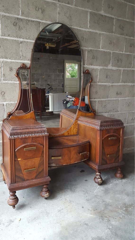 SOLD Antique Art Deco Waterfall Makeup Vanity - We have more vanities! Will  be posting - Best 25+ Antique Makeup Vanities Ideas On Pinterest Antique