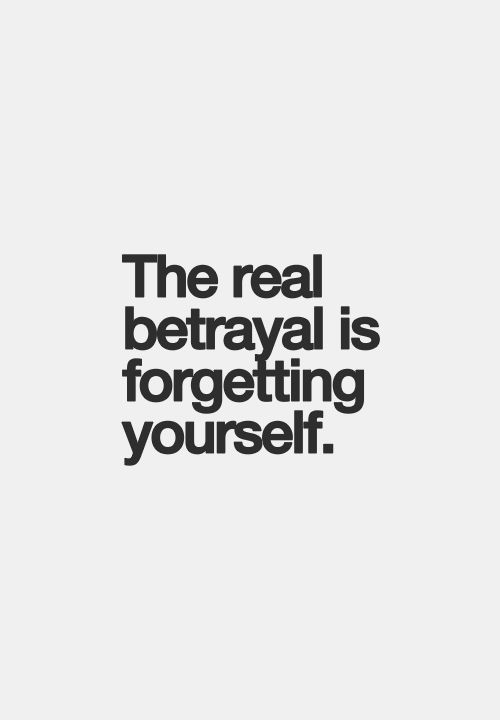 The importance of betrayal