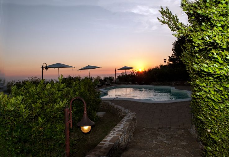 Sunset from swimming pool  Borgo la Pietraia