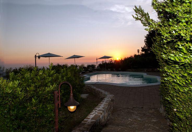 Sunset from swimming pool  Borgo la Pietraia