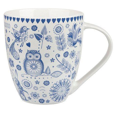 Queens Fine china blue 'Penzance Crush' mug- at Debenhams.com
