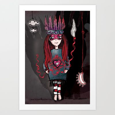 Anxious Brave Art Print by Girl Quirky - $25.00