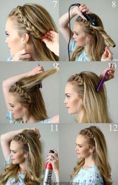 """Mais de 40 tutoriais de penteados """"faça você mesma"""" para as festas"""