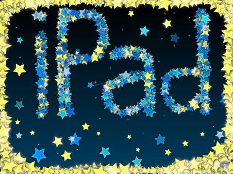 Draw with Stars ! app  - lek med att göra rörliga bokstäver. Play with letters that move!