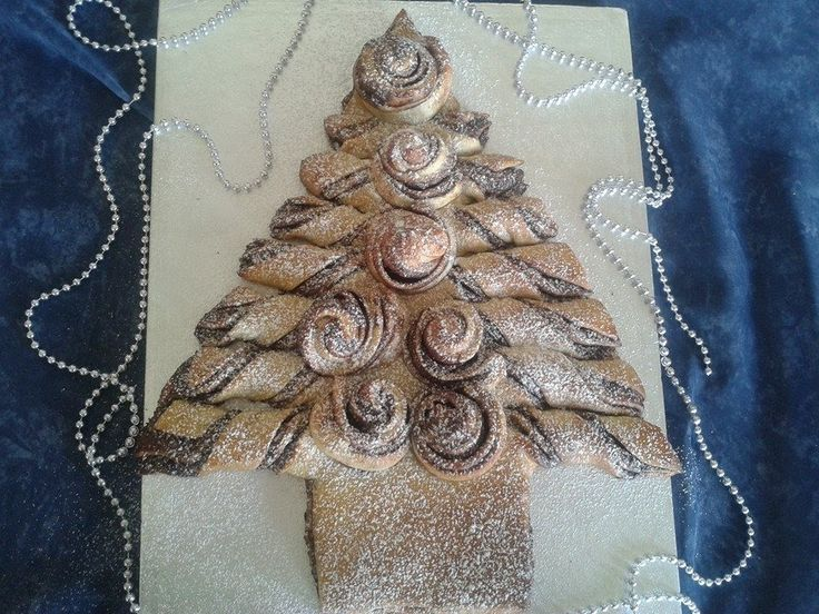 Albero di Natale Panbrioche,NUTELLA CHRISTMAS TREE – Tear and Share Bread