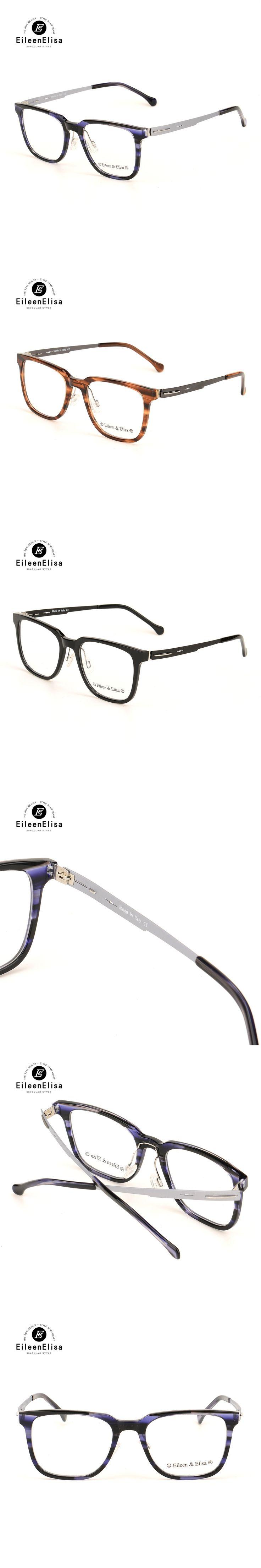 EE Hot Fashion Acetate Glasses Frame Men Optical Glasses With Clear Glass Transparent Glasses Women's Eyeglasses