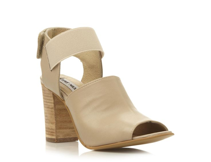 STEVE MADDEN SAVAGE - Leather Two Part High Vamp Sandal - natural | Dune Shoes Online  Looks like Givency.