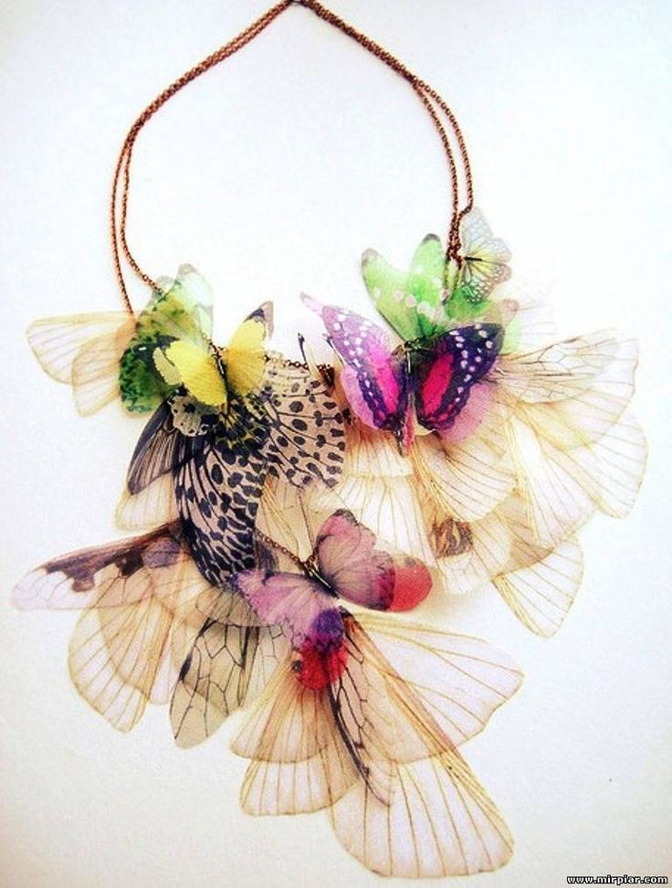 Ideas for creativity - Ornaments from butterflies (15 pictures). More: http://wonderdump.com/ideas-for-creativity-ornaments-from-butterflies-15-pictures/
