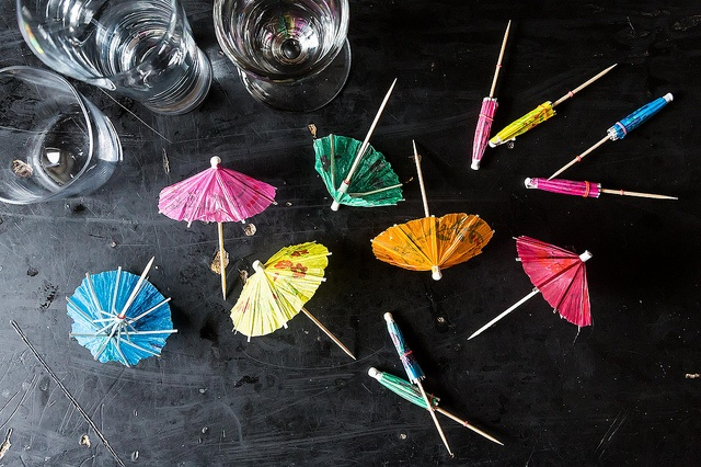 What's a tiki party without lil umbrellas for the drinks :)