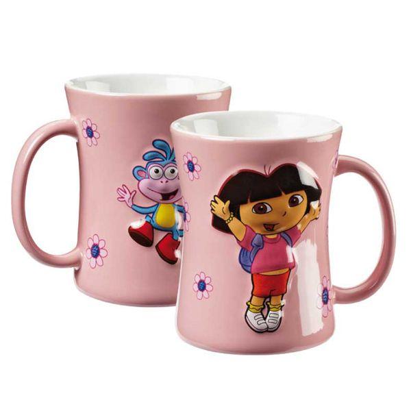 Flouda store | Κούπα ανάγλυφη Dora-Boots ροζ 1+1 Δώρο!!!!