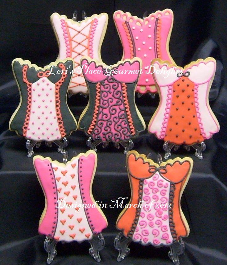 CORSET  Cookies - Corset Cookies - Bachelorette Cookies - 3.75 each by lorisplace on Etsy https://www.etsy.com/listing/243243006/corset-cookies-corset-cookies