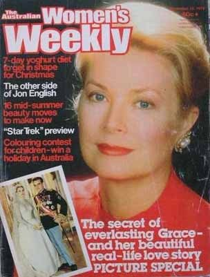 RARE Australian Women's Weekly Magazine Grace de Monaco cover