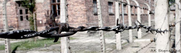 Foto: AK Stensland, Piggtrådgjerde i konsentrasjonsleiren Auschwitz i Polen