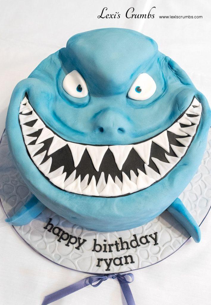 Shark cake www.lexiscrumbs.com