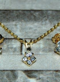 Conjunto diamante cristal