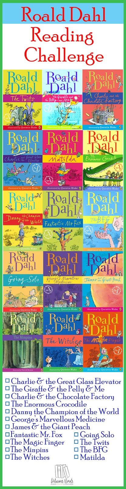 Roald Dahl Reading Challenge and a Free Printable Bookmark / The BFG / Delicious Reads