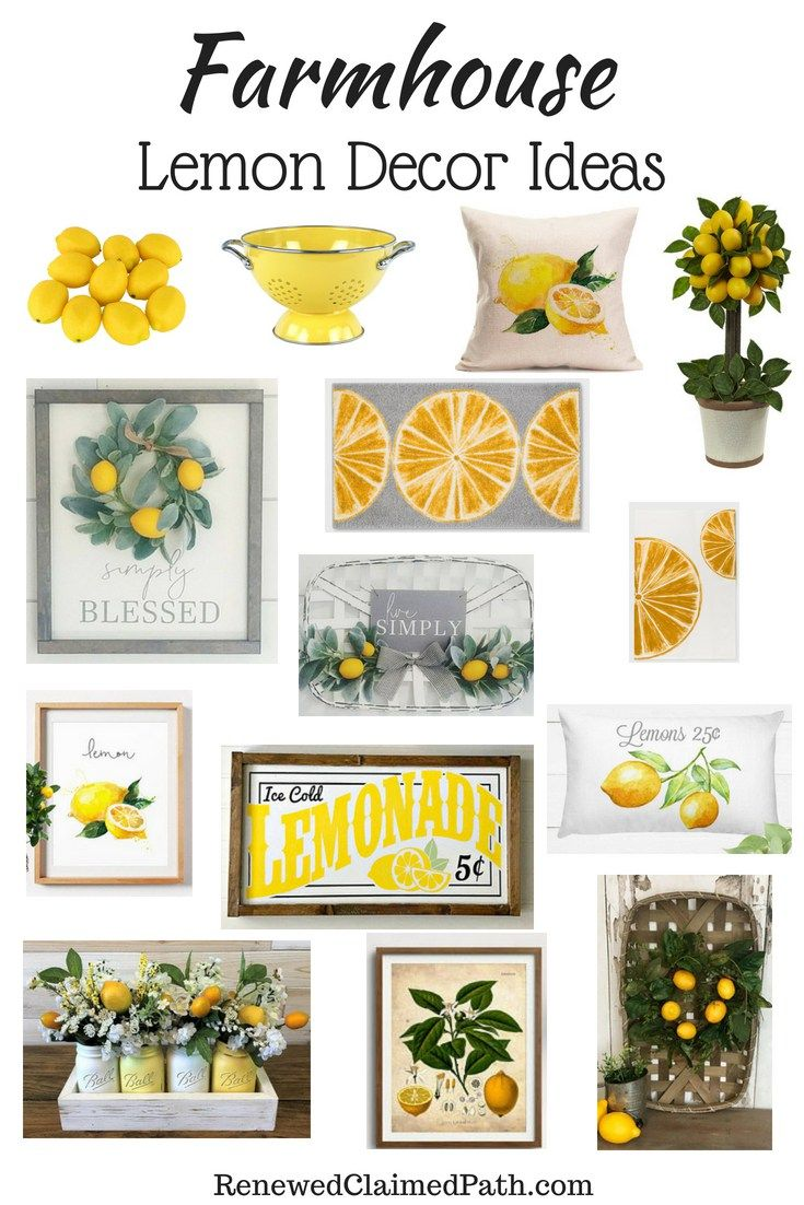 Farmhouse Lemon Decor Inspiration Ideas  Lemon decor, Lemon