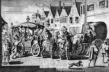 L'assassinat de Henri IV, rue de la Ferronnerie à Paris -Tout en préparant la guerre, on s'apprête au couronnement officiel de la reine à St-Denis qui se déroule le 13 mai 1610.Le lendemain, Henri IV meurt assassiné par François Ravaillac, catholique fanatique, dans la rue d la Ferronnerie à Paris. L'enquête conclut à l'action isolée d'un fou. Un examen des archives au XXI°s suggère pourtant l'idée d'un possible complot.
