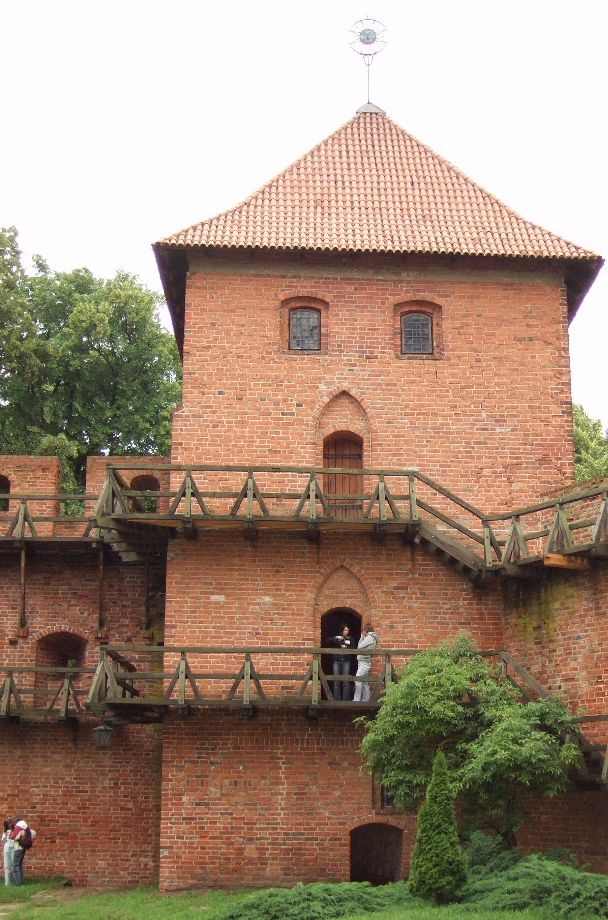 Copernicus's tower at Frombork, where he lived and worked; rebuilt recently