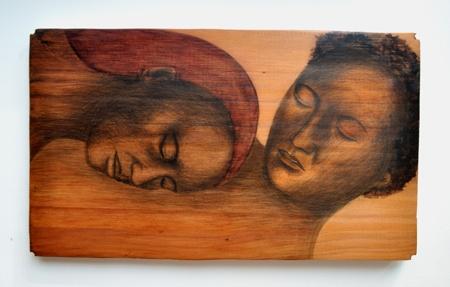 Natasha Keating Kura Gallery Maori Art Design New Zealand Rangi loves papa kauri panel