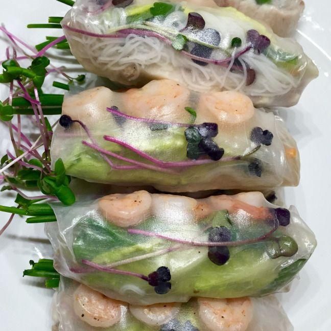 Letní vietnamské závitky s krevetami a bůčkem • Summer vietnamese rolls with prawns and pork belly • Microgreens / mikro bylinky
