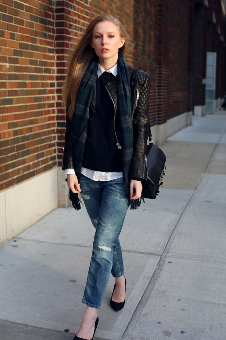 What are some new ways to wear my leather jacket?
