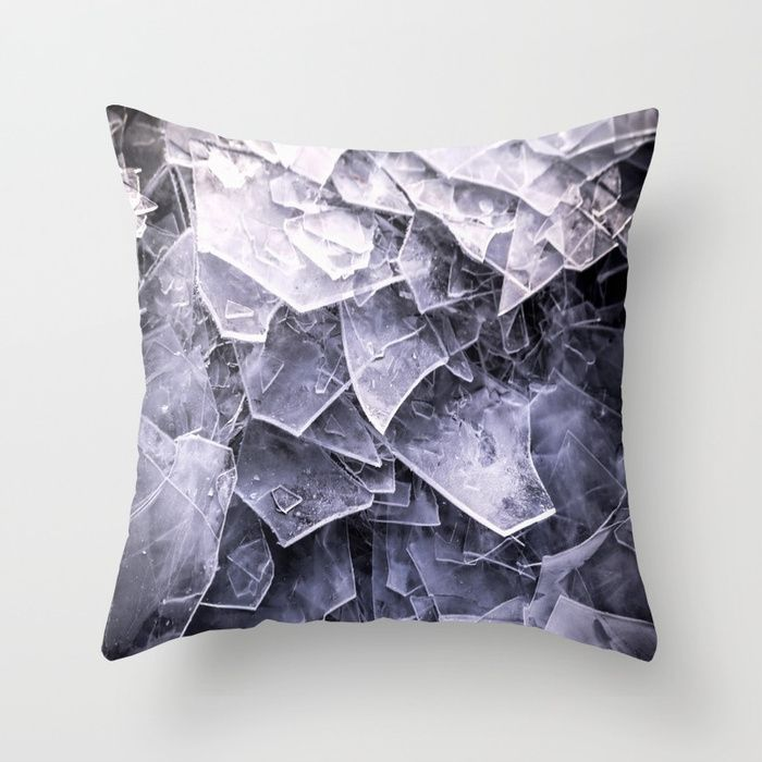Cracked Ice Tiles In Lake Shore #decor #buyart #society6 Throw Pillow