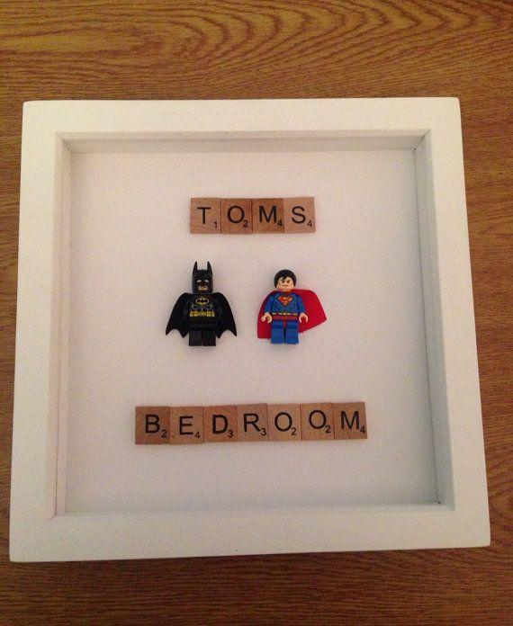 Lego Marvel Superhero DC Comics personalised by LuMaGifts on Etsy