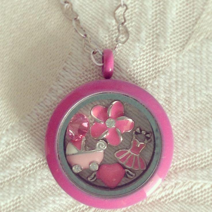 Pink, pink & More Pink Locket by Lily Anne Designs
