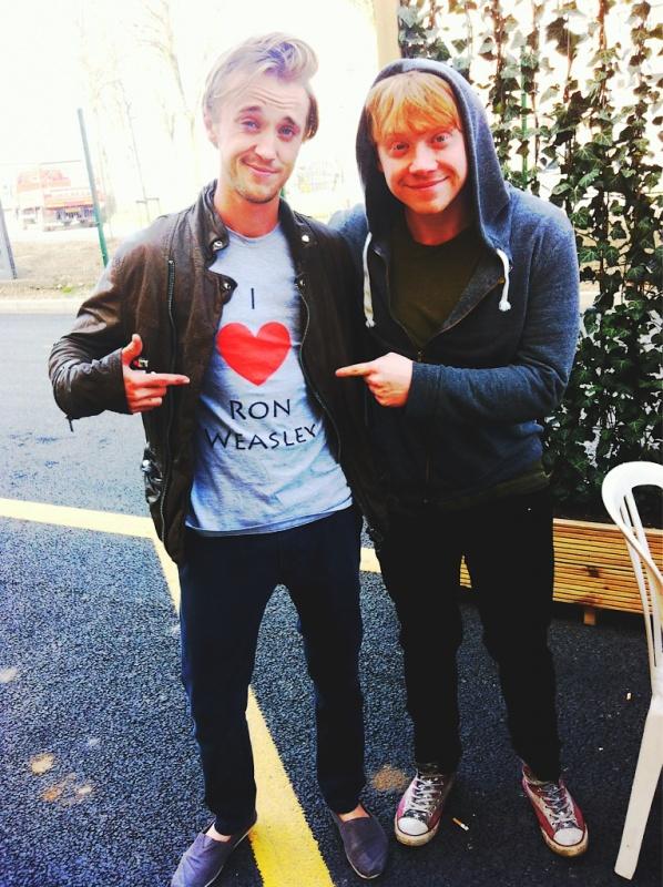 Tom Felton & Rupert Grint
