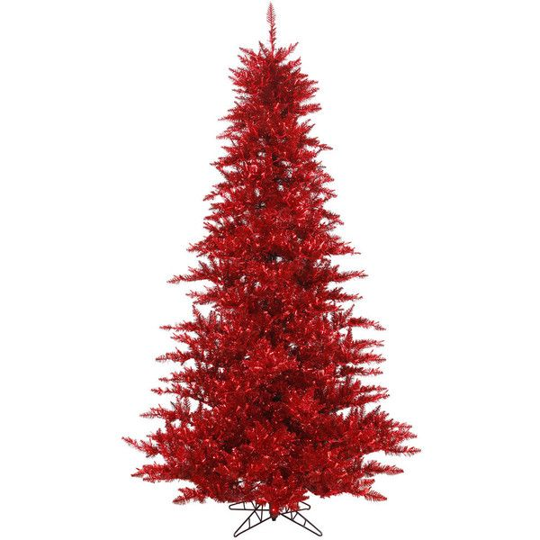 vickerman 45 tinsel red fir christmas tree wayfair 65845 crc liked - Red Home Decor Accessories