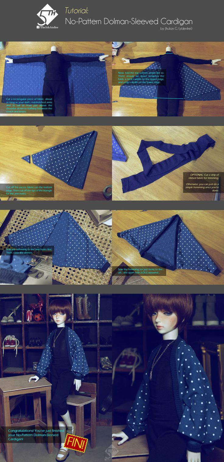 5th Atelier Tutorial: No-Pattern Cardigan by Ylden.deviantart.com on @deviantART