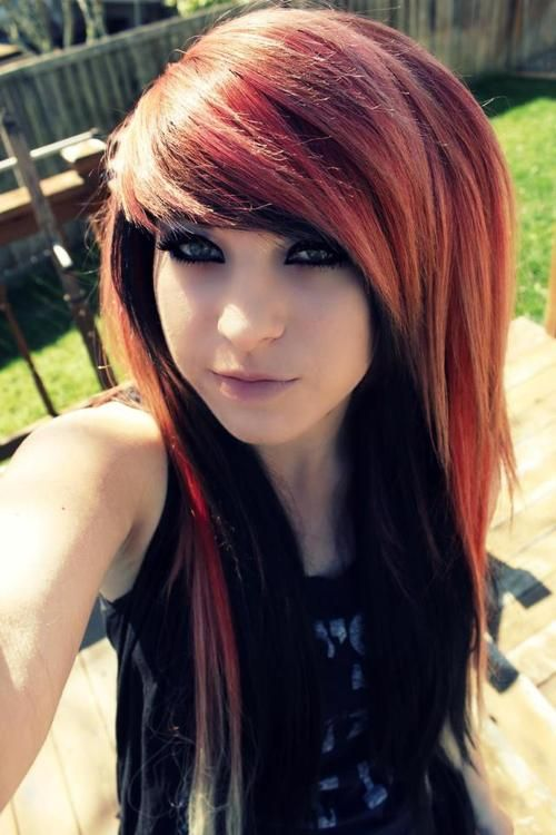 I love this hairstyle but I don't know why people think only emo people have this haircut... But anyways love it!
