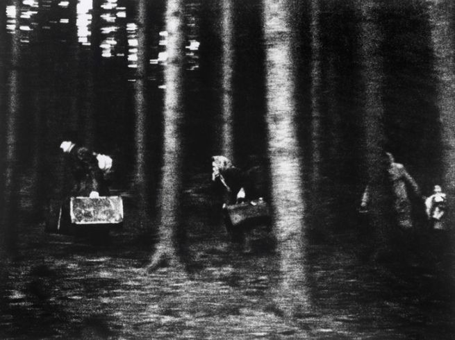 Hilmar Pabel, German, 1910-2000 'A family flees across the border in the Bavarian Forest to the West' 1948-49