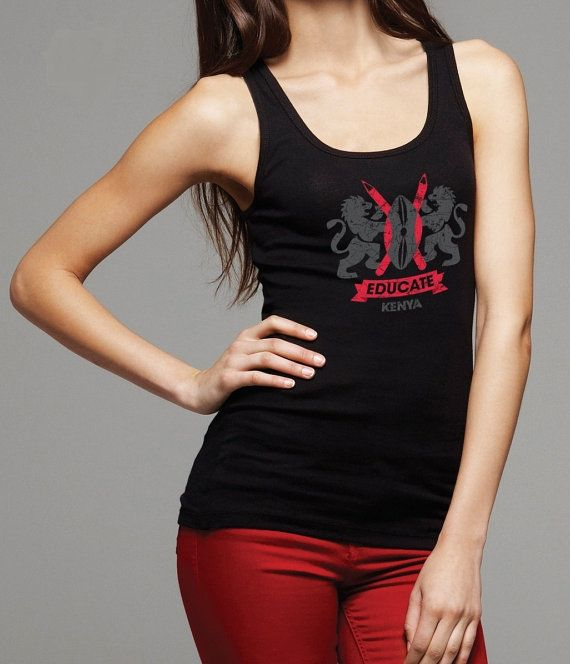 Educate Kenya Tank CREST  all proceeds by MegansCozyCreatives, $15.00