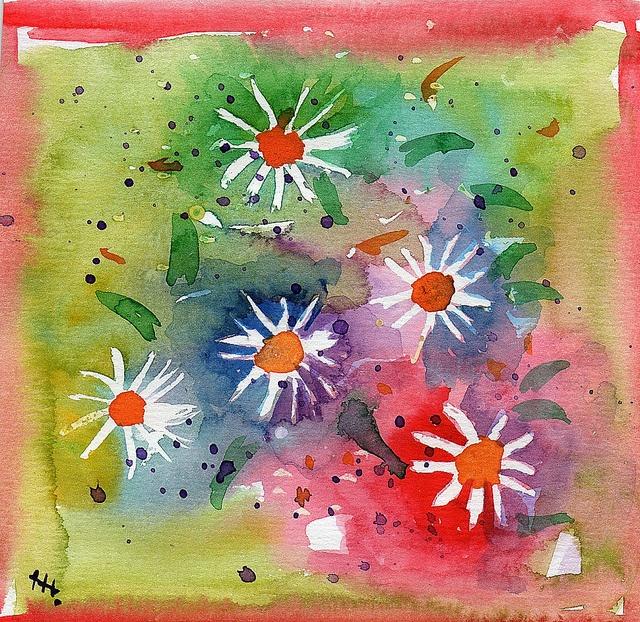 watercolor doodle by Helanker, via Flickr