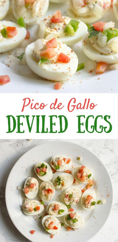 Pico de Gallo   Deviled Eggs   Pico de Gallo Deviled Eggs   Boiled Eggs   Easter Brunch   Deviled Eggs Recipe   Tajin