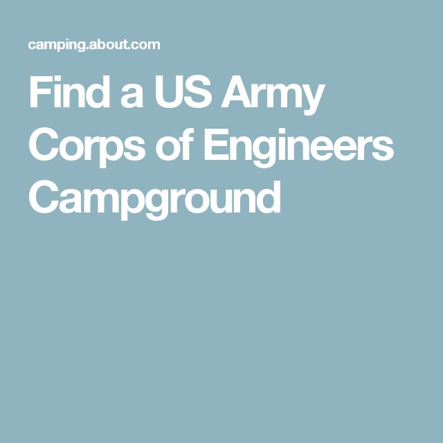 Find a US Army Corps of Engineers Campground