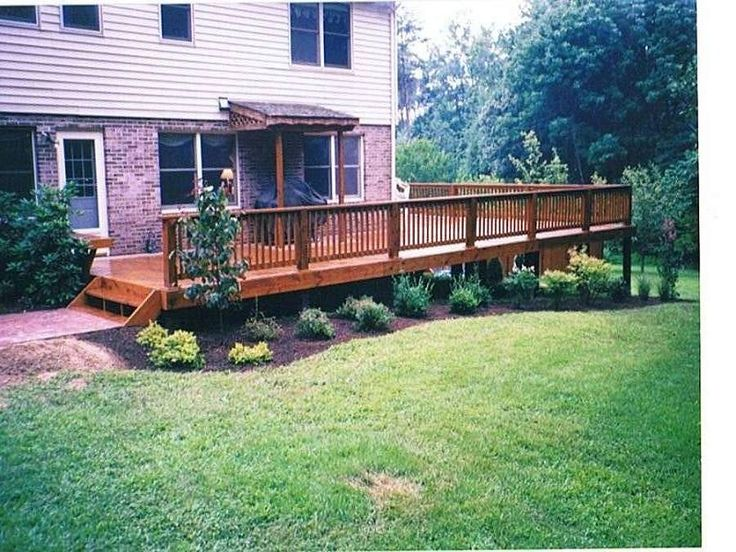 10 best deck images on pinterest architecture artists for Front garden decking ideas
